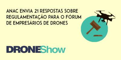 ANAC envia 21 respostas sobre regulamentação para o Fórum de Empresários de Drones 400x200 21 respostas da ANAC sobre a regulamentação dos Drones no Brasil