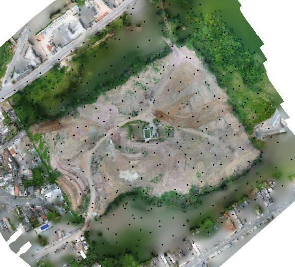 Cada ponto representa uma imagem produzida Artigo técnico: Case de sucesso sobre Drones na Engenharia