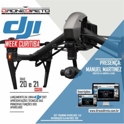 DJI Week Curitiba acontece nos dias 20 e 21 de março