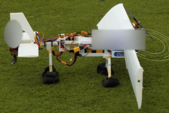 Protótipo de drone gira as asas de forma independente. Confira
