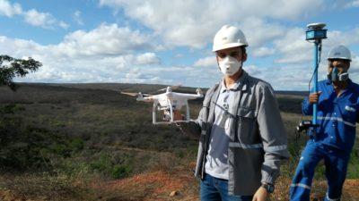 Drone em levantamento planialtimétrico 400x225 Artigo: comparação entre topografia com Drones x topografia tradicional