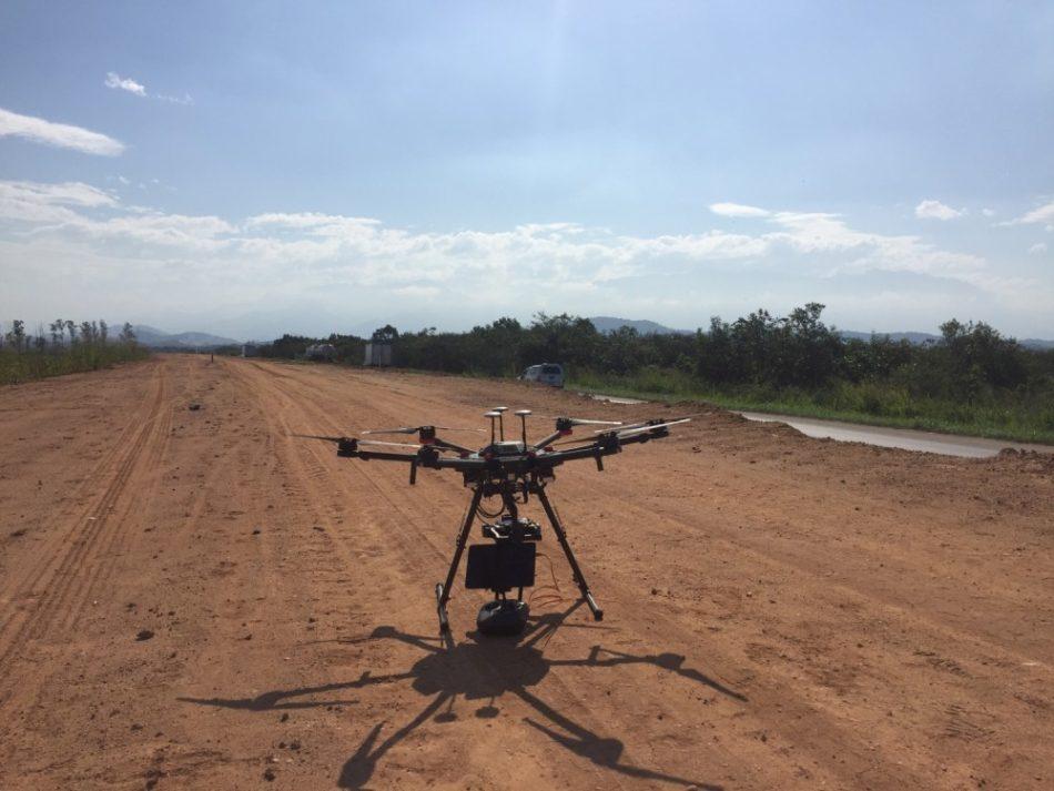Um dos Drones usados pela Metro Cúbico para aplicações em engenharia, inspeção e monitoramentos