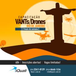 iQuali abre vagas no Rio de Janeiro para capacitação em Drones